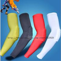 Honeycomb Pad Cycling Basketball Shooting Arm Sleeve Elbow Cover Black M L XL