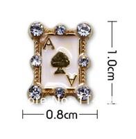 20pcs/lot Nail art supplies alloy jewelry DIY nail art accessories wholesale diamond phototherapy glue bowknot nail Poker