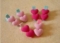 Handmade heart shape Pet Grooming Accessories 20Pcs/lot Mixed Ribbon Hair Bow Dog Rubber Bands Dog Hair Bows, Dog Show Supplies.