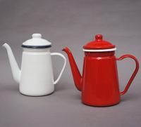 Zakka enamel pot cold water pot oiler coffee teapot tea set white vintage