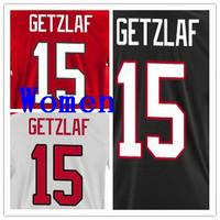 2014 Team Women Country Jersey Uniform Shirt National Ryan Getzlaf Jerseys #15 Girl Ice Hockey Uniform Lady's Black Red White