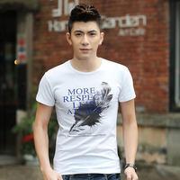 2014 fashion men's short sleeve T-shirt tight 3 colors M-XXL
