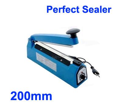 "HOT 8"" 20cm Impulse Heat Sealing Plastic Bag Closer Electric Sealer free shipping(China (Mainland))"