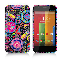 Fashion Design Flower Butterfly & UK/US Flag Rubber Soft  TPU Back Case Printing Cover for Motorola Moto G