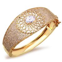 2014 Latest Solar Design Bridal Bangles Cubic Zircon Women Fashion Bangle Lead & Nickel Free Platinum Plating Mother's Day Gifts