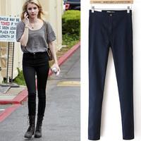 2014 new fashion summer Fashion aa slim high waist denim elastic skinny jeans 712853