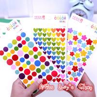 Free Ship 1lot=72pcs/Korean stationery kawaii wholesale  decoration diary album stickers wall stickers