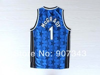 Orlando #1 Tracy McGrady Throwback Basketball Jersey Rev 30 Cheap Sport Jersey Stitched Logo Embroidery Authentic Jersey