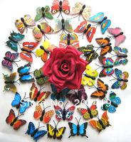 500pcs/lot Vivid 3D Duplex Butterfly Fridge Refrigerator Magnet Home Decor Wedding Party Gift Toy