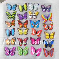 7cm Vivid 3D Duplex Printing Butterfly Fridge Refrigerator Magnet Stickers Home Decor Wedding Party Gift 50pcs/lot