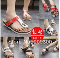 2014Summer trend of cork lovers casual flip flops flip professional sandals beach slippers male women's
