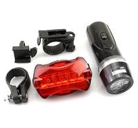5 LED Waterproof Cycling Flashlight Lamp Bike Bicycle Front Headlight+Rear Flashlight Tail Light 2in1
