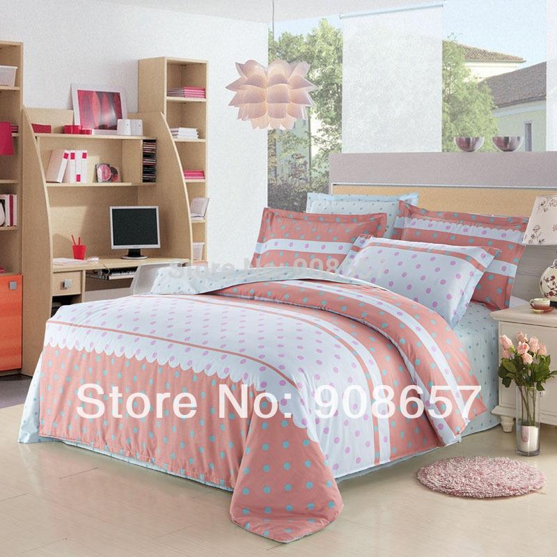 cotton girls bedding set queen full size bed sheet