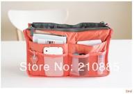 Free Shipping 100pcs/lot Insert Purse Cosmetic Storage Organizer Bag Handbag Makeup Tidy Travel ,Collection Organizer
