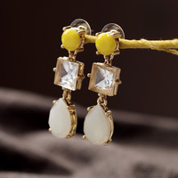 Designer Jewelry New Styles 2014 Fashion Jewelry Resin Yellow Water Drop Earrings