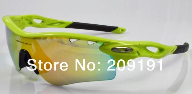2014 novo correr para comprar mens caminho radar autêntico óculos de sol cor; verde(China (Mainland))