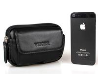 Genuine Leather Waist Bag Waist Pack for Men Fanny Packs Phone Pouch Belt Loops Belt Bag Travel Hip Purses Wallet Black & Brown