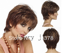 2014 New Fashion Short Straight Natural Brown Synthetic Hair Wigs Wholesale Price