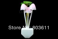 Creative Design 3 Mushroom With Lotus Leaf Multi-color LED Night Light Bed Light Lamp