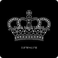 DHL Free shipping 50pcs/Lot Wholesale Crown custom rhinestone transfer