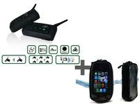 2pcs Motorcycle 6 Riders Bike-To-Bike Bluetooth Intercoms+Waterproof Motorcycle Tank Bag