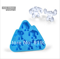 Hot SnowMen Ice Easter Island Cube Maker  Ice Cube Tray Silicone Chocolate Mold Crystal Silicone Ice Mold Candy Mold (IM-023)