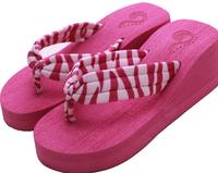 2014 classic striped pink girl cute couple Summer Beach Series flip flops E74