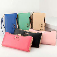 New Style Women Wallets, Fashion Bow Lady Wallets,Cion Purse Cards Holder,Women Clutch, Women handbags 6 Candy Colors LY-122