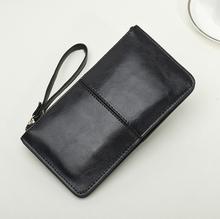 2014 Fashion Genuine Leather Wallet Women Cowhide Cosmetic Phone Card Bag Men BK214 Z8Z