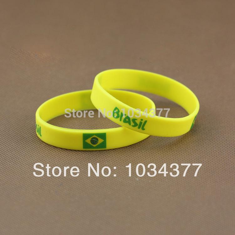 2014 World Cup Fans Sport wrist Brazil Brazilian national sports wrist bracelet unisex bracelet radiation(China (Mainland))