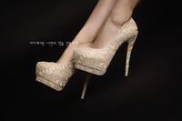 Free shipping Kvoll women pumps  2014 new fashion waterproof ultra high heels women shoes