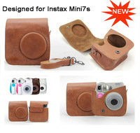 New Fujifilm Instax Mini 7S Camera Leather Case Bag with Shoulder Strap