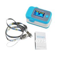 Hot sale Fingertip Pulse Oximeter, OLED screen color blue