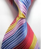 Free shipping New Stripe Classic Woven Man Tie Necktie Holiday Gift