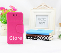 Free Shipping 2014 New arrival Universal Flip Leather case for WIKO darkmoon  Android Mobile phone cases