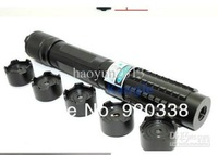 Wholesale - Free Shipping 450nm 10w/10000mw metal cased 5in1 burning focusable blue laser pointer (5 star caps) with free safety