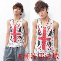 Mens summer vest Male vest the trend of the m word flag tank male casual male vest