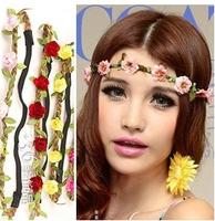 New Fashion Women's Wig Headband Hair Clip,Rose Flower Hair Belt Girls Tiaras ,Beach Hair Accessories