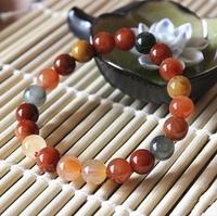 9mm Prayer Beads Natural Stone Candy Bracelet Women Multi-color Bracelet