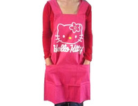 Color Random Popular in 2014 Housekeeper apron cooking tools women aprons with hello kitty pattern and two pockets