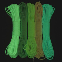 9 Strand 25FT Luminous shiny Reflect Light Paracord 550 Parachute Cord Lanyard Rope four colors to choose