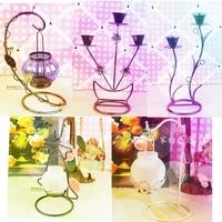 Fashion iron candle table romantic hurricane lantern 0.4