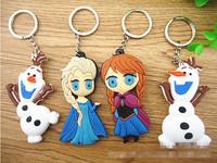 [2014 new]Frozen  Anna Elsa  Olaf 4pcs/set high quality Key chain[Free shipping]