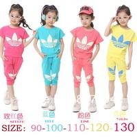 2014 new arrive wholesale brand track suit kid's 2 pcs set children clothes Set children sport suit four color promotion5set/lot