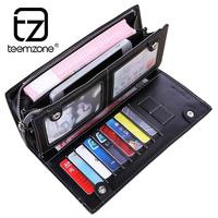 mens wallet men        long          large capacity     genuine leather wallets purse men clutch card holder carteira masculina