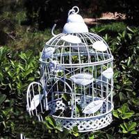 Fashion iron white iron birdcage wrought iron bird cage bird cage