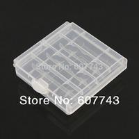 4pcs  Hard Plastic Case Holder Storage Box for 4x AA Battery