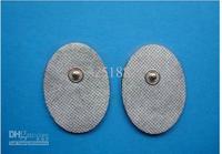 Wholesale - 600pcs/lot Non-woven snap replacement electrode pads for whole body massage ten /EMS machine 4*3cm
