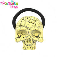 New Fashion Horror Skeleton Skull Punk Hairtie Ponytail Holder Jewelry Hair Accessories For Women Girls Hairbands Free Shipping
