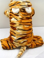 Brown Tiger Costume Dog Clothes Funny Tiger stripes Jumpsuit Pet Products Tracksuit  Free Shipping